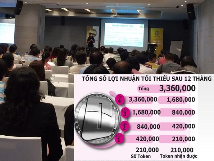 Hơn 150 nhà đầu tư Onecoin tham gia buổi gặp gỡ cuối tuần qua tại TP.HCM - Ảnh: Thanh Xuân