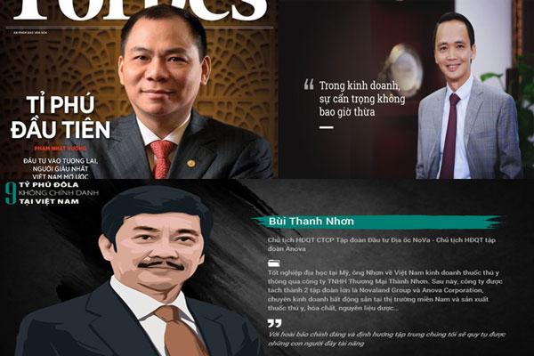 Ít nhất đã có 3 tỷ phú USD được công khai trên sàn chứng khoán Việt Nam.